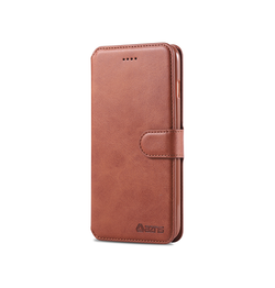iPhone 6 Plus / 6s Plus | iPhone 6/6s Plus - AZNS Diary Læder Cover Etui M. Pung - Brun - DELUXECOVERS.DK