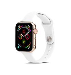 Apple Watch 38mm | Apple Watch (38-40MM) -  ICON™ Tynd Classic Silikone Rem - Hvid - DELUXECOVERS.DK