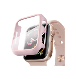 Apple Watch (42MM) - NX 360° Cover M. Beskyttelseglas - Rose - DELUXECOVERS.DK