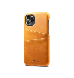 iPhone 11 Pro - NX Design Læder Bagcover Pung Lysebrun - DELUXECOVERS.DK