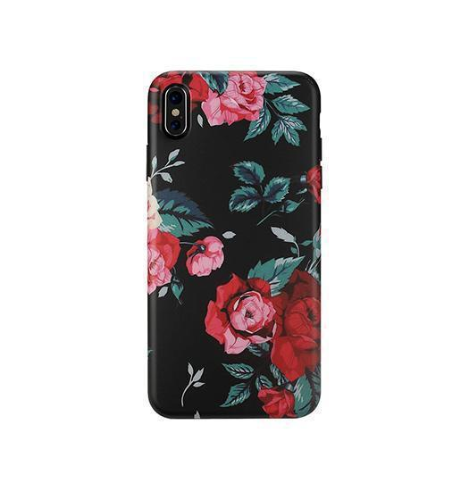 iPhone X | iPhone X/Xs - Verdenatura Floral Flower Cover - Red Rose - DELUXECOVERS.DK