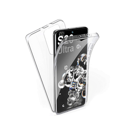 Samsung Galaxy S20 Ultra | Samsung Galaxy S20 Ultra - Full Cover 360 Silikone Transparent - DELUXECOVERS.DK