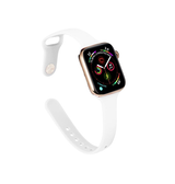 Apple Watch 42mm | Apple Watch (42-44mm) -  ICON™ Tynd Classic Silikone Rem - Hvid - DELUXECOVERS.DK