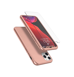 iPhone 11 Pro - Deux™ 360° Fuld Cover M. Beskyttelsesglas - Rose - DELUXECOVERS.DK