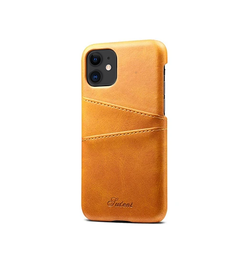 iPhone 11 | iPhone 11 - NX Design Læder Bagcover M. Pung - Lysebrun - DELUXECOVERS.DK