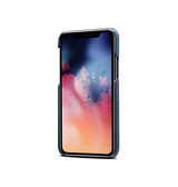 iPhone 11 Pro Max | iPhone 11 Pro Max - NX Design Læder Bagcover M. Pung - Blå - DELUXECOVERS.DK