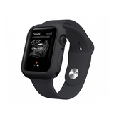 Apple Watch (44mm) - Pro+ Silikone Taske / Cover - Sort - DELUXECOVERS.DK