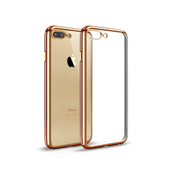 iPhone 7/8 Plus | iPhone 7/8 Plus - Flexible Silikone Cover - Guld - DELUXECOVERS.DK