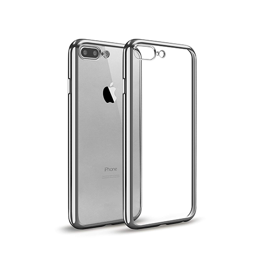 iPhone 7/8 Plus | iPhone 7/8 Plus - Flexible Silikone Cover - Sølv - DELUXECOVERS.DK