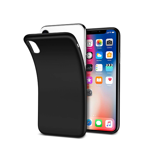 iPhone X | iPhone X/Xs - PRO+ Design Mat Slim Silikone Cover - Sort - DELUXECOVERS.DK