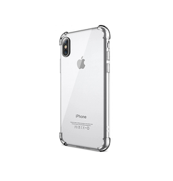 iPhone X | iPhone X/Xs - Silent Stødsikker Silikone Cover - Gennemsigtig - DELUXECOVERS.DK