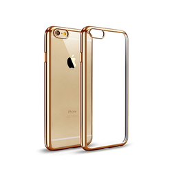 iPhone 6 Plus / 6s Plus | iPhone 6/6s Plus - BASEUS Slim Silikone Cover - Guld - DELUXECOVERS.DK
