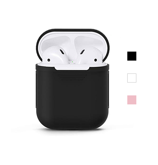 Tilbehør | AirPods (1/2) - DeLX Premium Silikone Cover - Sort - DELUXECOVERS.DK