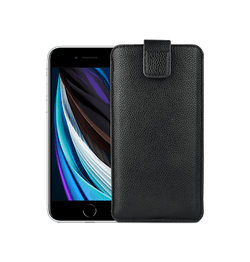 iPhone 6 Plus / 6s Plus | iPhone 6/6s Plus - Verona Læder Sleeve Etui - Black Onyx - DELUXECOVERS.DK