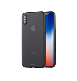 iPhone X/Xs - Ultratynd Matte Series Cover V.2.0 - Sort - DELUXECOVERS.DK