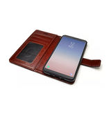Samsung Galaxy S9+ | Galaxy S9+ - Retro Diary Læder Cover Etui M. Pung - Brun - DELUXECOVERS.DK