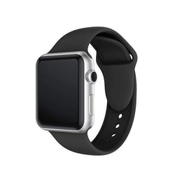 Apple Watch 42mm | Apple Watch (42-44mm) -  PRO+ Silikone Sportsrem - Sort - DELUXECOVERS.DK