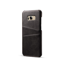 Samsung Galaxy S8+ | Samsung Galaxy S8+ (Plus) - NX Design Læder Bagcover - Sort - DELUXECOVERS.DK