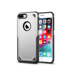 iPhone 7/8 Plus | iPhone 7/8 Plus - REALIKE Pro Armor Håndværker Cover - Sølv - DELUXECOVERS.DK
