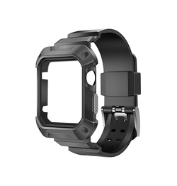 Apple Watch 44mm | Apple Watch (44mm) - NX PRO™ Håndværker Urrem Cover - Sort - DELUXECOVERS.DK