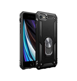 iPhone 7 / 8 | iPhone 7/8/SE - NX Pro™ Armor Cover m. Ring Holder - Sort - DELUXECOVERS.DK