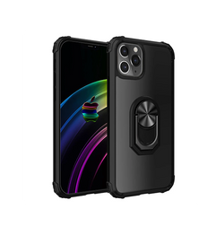 iPhone 11 Pro | iPhone 11 Pro - Cover M. Ring & Magnetisk Kickstand - Sort - DELUXECOVERS.DK