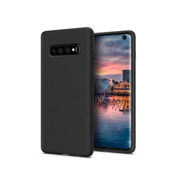 Samsung Galaxy S10e - Novo Frosted Matte Slim Silikone Cover - Sort - DELUXECOVERS.DK