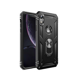 iPhone XR - NX Pro™ Armor Cover m. Ring Holder - Sort - DELUXECOVERS.DK