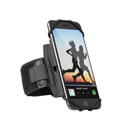 iPhone 5 / 5S / SE | iPhone 5/5s/SE - Fit4Run™ Sports / Løbearmbånd - Sort - DELUXECOVERS.DK