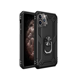 iPhone 11 Pro - NX Pro™ Armor Cover m. Ring Holder - Sort - DELUXECOVERS.DK