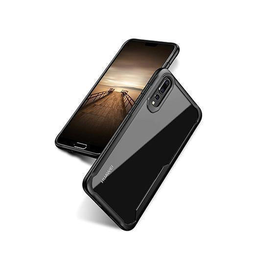 Huawei P20 Pro | Huawei P20 Pro - ImpactShield Hybrid Håndværker Cover - Sort - DELUXECOVERS.DK