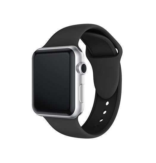 Apple Watch 38mm | Apple Watch (38-40MM) -  PRO+ Silikone Sportsrem - Sort - DELUXECOVERS.DK