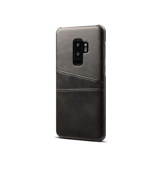 Samsung Galaxy S9+ | Samsung Galaxy S9+ - NX Design Læder Bagcover - Sort - DELUXECOVERS.DK