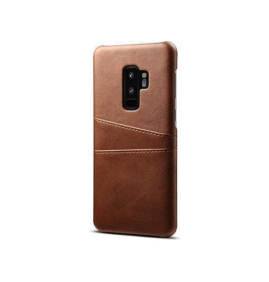 Samsung Galaxy S9+ | Samsung Galaxy S9+ - NX Design Læder Bagcover - Brun - DELUXECOVERS.DK