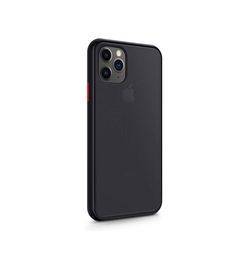 iPhone 12 Pro | iPhone 12 Pro - Clean Case™ Silikone Cover - Sort/Gennemsigtig - DELUXECOVERS.DK