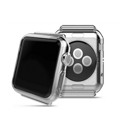 Apple Watch (38MM) - Original 0.3 Silikone Cover Gennemsigtig - DELUXECOVERS.DK