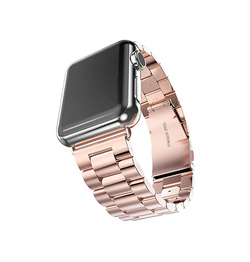 Apple Watch (42-44mm) -  CNC Pro Rustfrit Stål Urlænke - Rose - DELUXECOVERS.DK