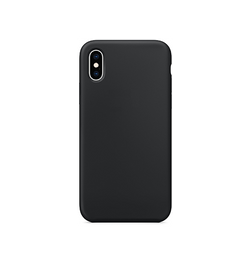 iPhone X/Xs - Deluxe™ Soft Touch Silikone Cover - Sort - DELUXECOVERS.DK