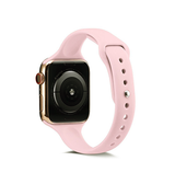 Apple Watch (42-44mm) -  ICON™ Tynd Classic Silikone Rem - Rose - DELUXECOVERS.DK