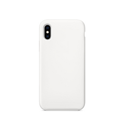 iPhone X/Xs - Deluxe™ Soft Touch Silikone Cover - Hvid - DELUXECOVERS.DK