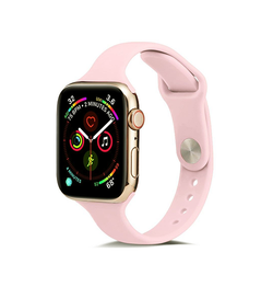 Apple Watch 42mm | Apple Watch (42-44mm) -  ICON™ Tynd Classic Silikone Rem - Rose - DELUXECOVERS.DK