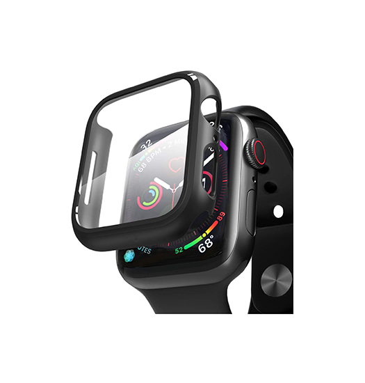 Apple Watch (44MM) - NX 360° Cover M. Beskyttelseglas - Sort - DELUXECOVERS.DK
