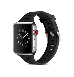 Apple Watch 38mm | Apple Watch (38-40MM) - Tough Silikone Sportsrem - Sort - DELUXECOVERS.DK