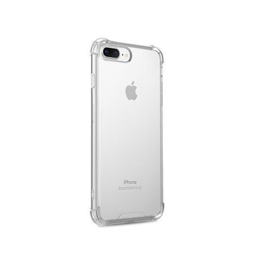 iPhone 7/8 Plus | iPhone 7/8 Plus Silent Stødsikker Silikone Cover - Gennemsigtig - DELUXECOVERS.DK