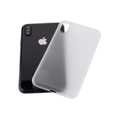 iPhone X | iPhone X/Xs - Ultratynd Matte Series Cover V.2.0 - Hvid - DELUXECOVERS.DK