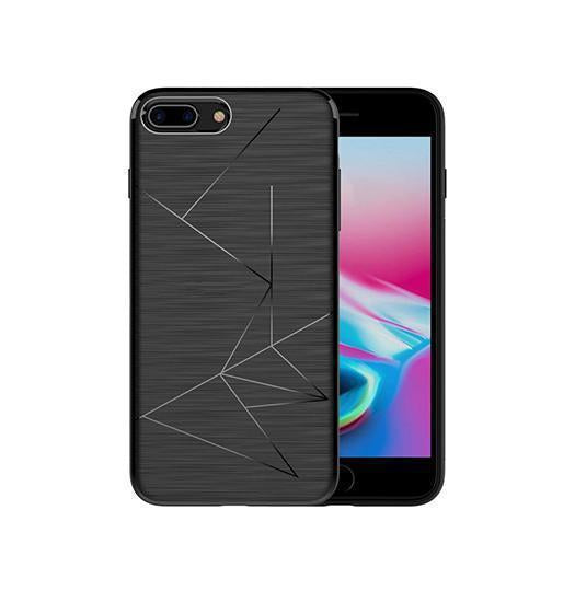 iPhone 7/8 Plus | iPhone 7/8 Plus - Delusion Abstract Designer Cover - Sort - DELUXECOVERS.DK