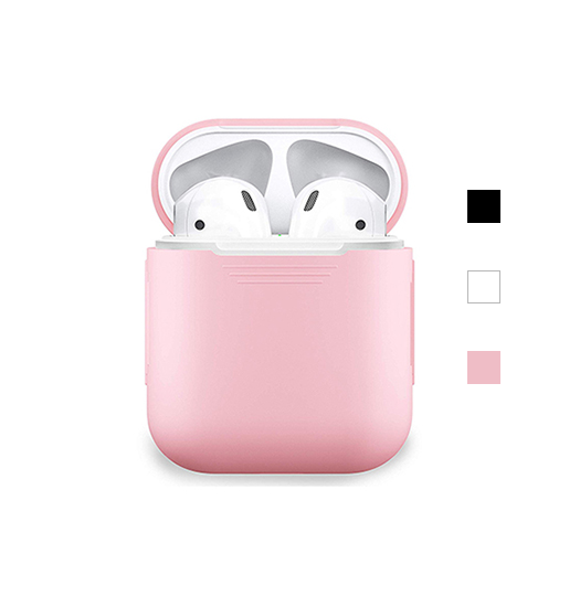 AirPods (1/2) - DeLX Premium Silikone Cover - Lyserød - DELUXECOVERS.DK
