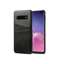 Samsung Galaxy S10+ | Samsung Galaxy S10+ (Plus) - NX Design Læder Bagcover - Sort - DELUXECOVERS.DK