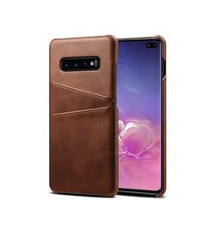 Samsung Galaxy S10+ | Samsung Galaxy S10+ (Plus) - NX Design Læder Bagcover - Brun - DELUXECOVERS.DK