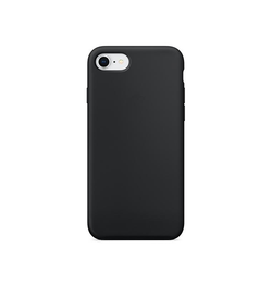 iPhone 7/8/SE - Deluxe™ Soft Touch Silikone Cover - Sort - DELUXECOVERS.DK